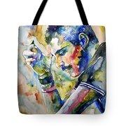 Freddie Mercury Watercolor Tote Bag