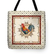 French Country Roosters Quartet Cream 2 Tote Bag