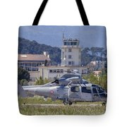 French Navy As565 Panther Helicopter Tote Bag