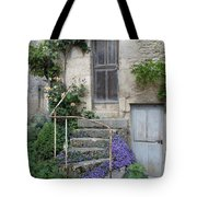 French Staircase With Flowers Tote Bag