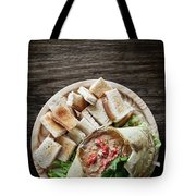 Fresh Crab Seafood Cream Mousse With Toast Tapas Snack Tote Bag