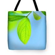 Fresh Green Leaves Tote Bag