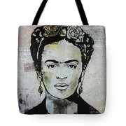 Frida Kahlo Press Tote Bag