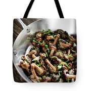 Fried Shiitake Mushrooms In Garlic Herb And Olive Oil Snack Tote Bag
