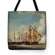 Frigates Receiving Their Captains Tote Bag