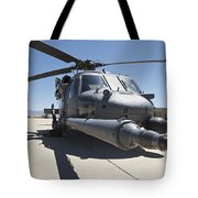 Front View Of A Hh-60g Pave Hawk Tote Bag