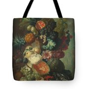 Fruit Flowers And A Fish Tote Bag