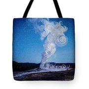 Full Moon And Old Faithful Tote Bag
