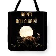 Full Moon Cat Tote Bag
