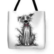 Fuzzy Dog Tote Bag