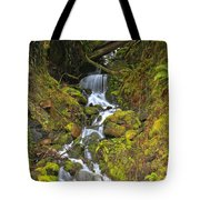 Streaming Through Rainforest Rubble Tote Bag