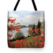 Garrick Temple On The River Thames At Hampton Tote Bag