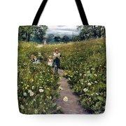 Gathering Wild Flowers Tote Bag