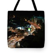 Gatlinburg, Tennessee At Night From The Space Needle Tote Bag