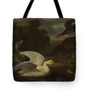 Geese And Ducks Tote Bag