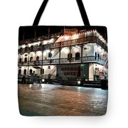 Georgia Queen Riverboat On The Savannah Riverfront Tote Bag