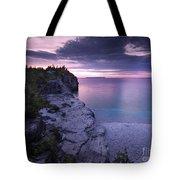 Georgian Bay Cliffs At Sunset Tote Bag