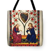 German Minnesinger 14th C Tote Bag