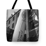 Giant Baseball Bat Adorns Tote Bag