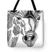 Giraffe Tote Bag by Barbara McConoughey