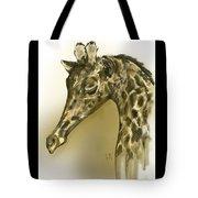 Giraffe Contemplation Tote Bag
