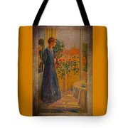 Girl At The Window Tote Bag