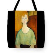 Girl In A Green Blouse Tote Bag