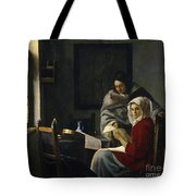 Girl Interrupted At Her Music Tote Bag