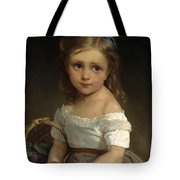 Girl With Basket Of Plums Tote Bag
