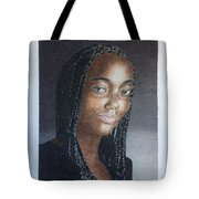 Girl With Braids Tote Bag