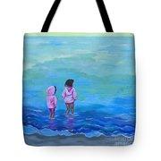Girls In Pink Tote Bag