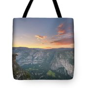Glacier Point Sunset  Tote Bag