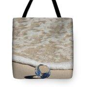 Glass Diamond On The Beach Tote Bag