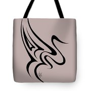 Gliding Swan Tote Bag