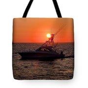 Going Fishing - Silhouette Tote Bag