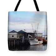 Golden Dolphin Eel Fishing Boat Port Angeles Washington Tote Bag