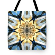 Golden Flower Abstract Tote Bag