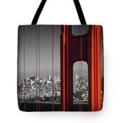 Golden Gate Bridge Panoramic Tote Bag