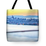 Golden Gate Bridge San Francisco California West Coast Sunrise Tote Bag