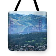 Golden Gate Bridge View From Twin Peaks San Francisco Tote Bag