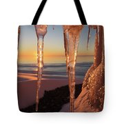 Golden Ice Tote Bag