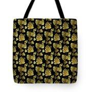Golden Tropics Pattern Tote Bag
