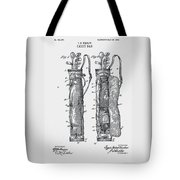 Golf Caddy Bag Patent 1905 Tote Bag