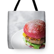 Gourmet Novelty Chicken Burger In Beetroot Bun Tote Bag