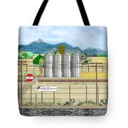 Grain Elevators At Ralston Tote Bag