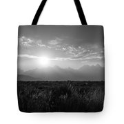 Grand Teton Hazy Sunset  Tote Bag
