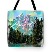 Grand Tetons From The Snake River Tote Bag