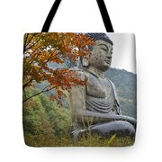 Great Buddha In Autumn Tote Bag
