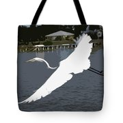 Great Egret At Melbourne Beach Tote Bag