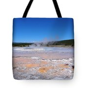 Great Fountain Geyser In Yellowstone National Park Tote Bag